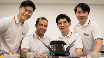 The research team developed MantaDroid, a robotic manta ray that can swim at the speed of twice its body length per second for up to 10 hours. Source: National University of Singapore