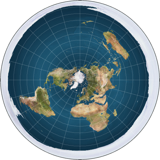 An azimuthal equidistant projection of the planet. Image credit: Trekky0623/Wikimedia Commons.
