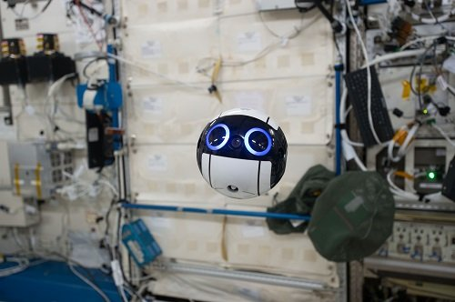 The JEM Internal Ball Camera can take still and moving images in space autonomously. Image credit: JAXA