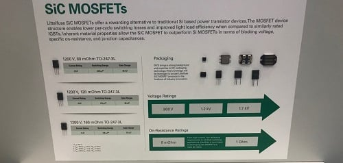 LittelFuse portfolio of SiC MOSFETs. Source: Littelfuse