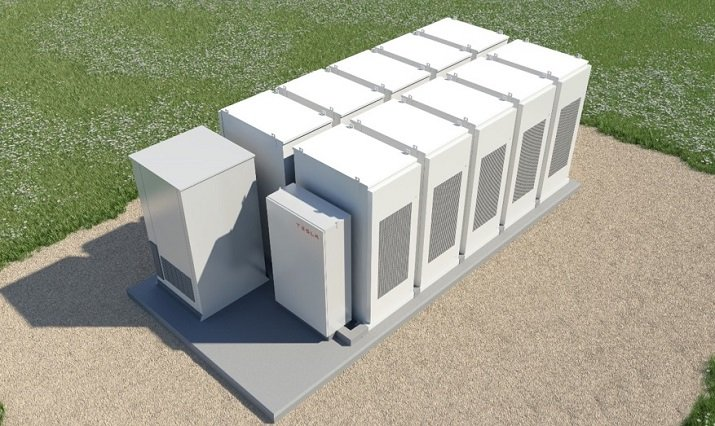 Tesla's Powerpack utility energy-storage system will be used to power a new facility in Southern California. Source: Tesla