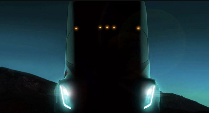 Tesla Semi pictured at TED 2017