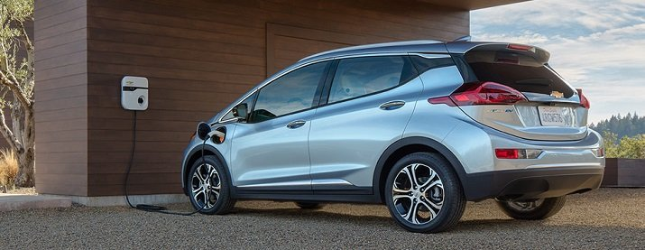 The Chevrolet Bolt EV has a distance of 238 miles on a full charge and is priced competitively to match that of the Tesla Model 3. Source: GM