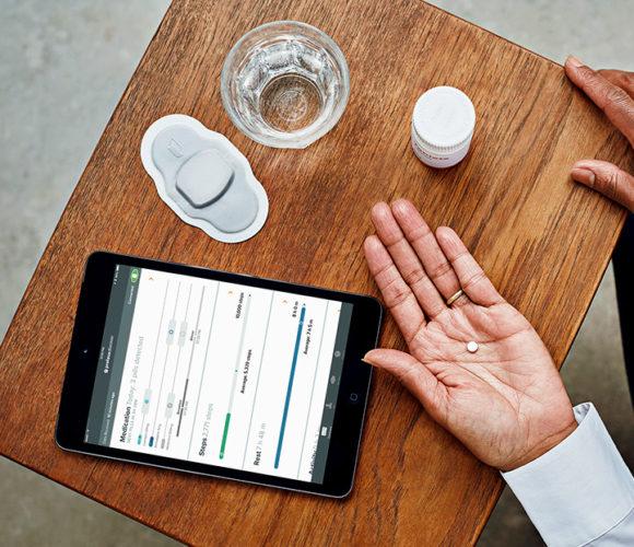 The drug's tracker allow patients access to data via a Web app.