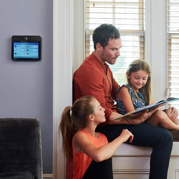 Nucleus' Smart Intercom allows families to talk from room to room, but it can also be used for video chat from home to home, or mobile device to home. Source: Nucleus