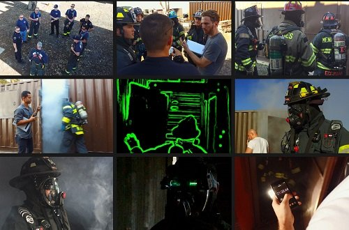 The C-THRU technology integrated into firefighter masks. Source: Qwake Technologies