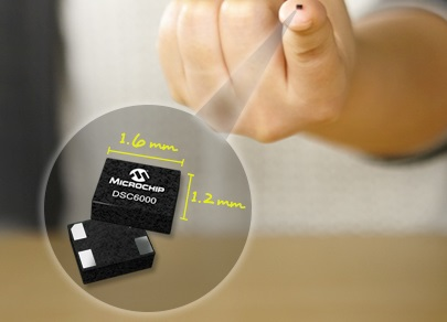 Microchip's DSC6000 MEMS oscillators come as small as 1.6 x 1.2 mm and can withstand 500 times more shock than quartz-based competitors. Source: Microchip