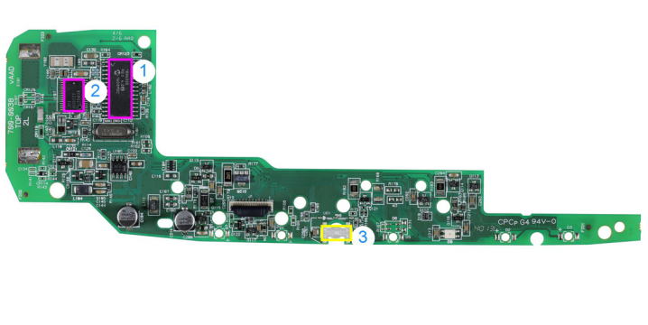 Homelink PCB - Top (Image Credit: IHS)