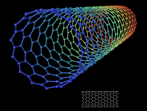 Carbon nanotube. Image credit: Wikipedia