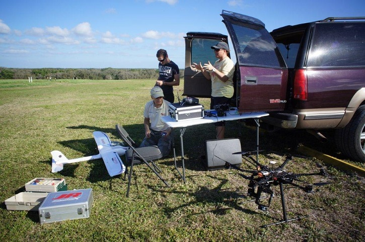 Students and Instructors prepare for hands-on drone training. (Image Credit: Unmanned Vehicle University)