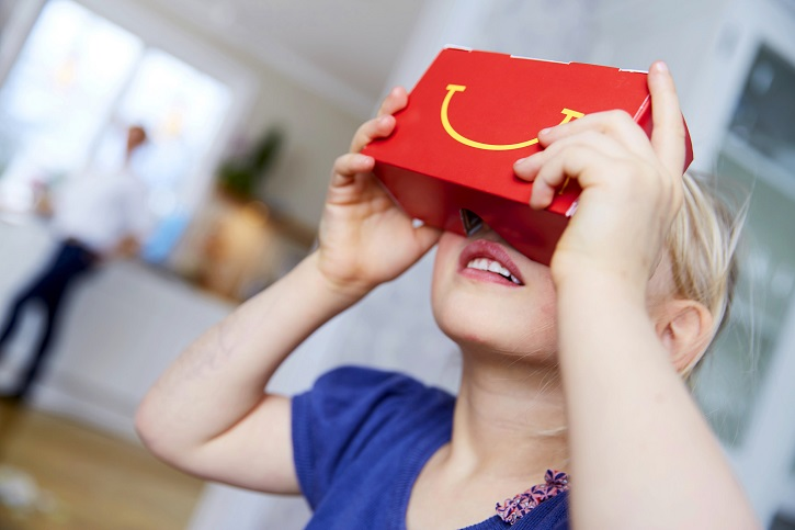 In this connected age, McDonald's Sweden expects kids to pick up the company's new VR goggles with ease.