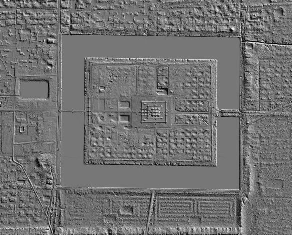 LiDAR image of Angkor Wat in Cambodia. Credit: Ancient Explorers