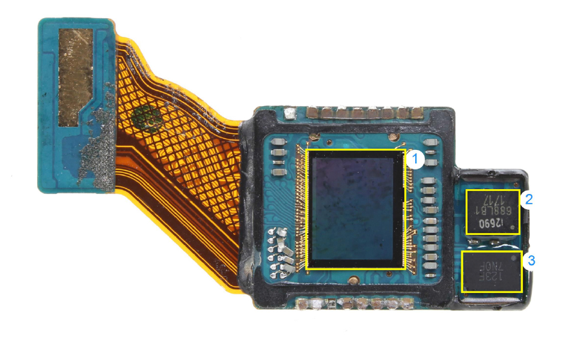 The Google Pixel 2: primary camera module (top view). Source: IHS Markit