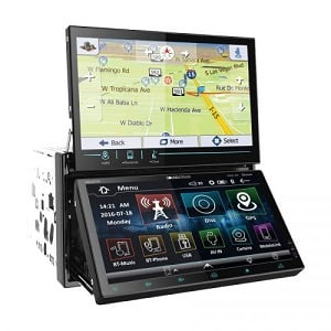 The VRN-DD7HBA features 2-DIN GPS navigation, DVD, CD/MP3, AM/FM receiver w/ dual 7-in. LCD touch screens, Android phone link and Bluetooth 4.0.
