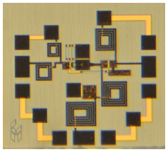 Die photograph of the Ku-band single-ended GaN FET mixer. Source: Custom MMIC