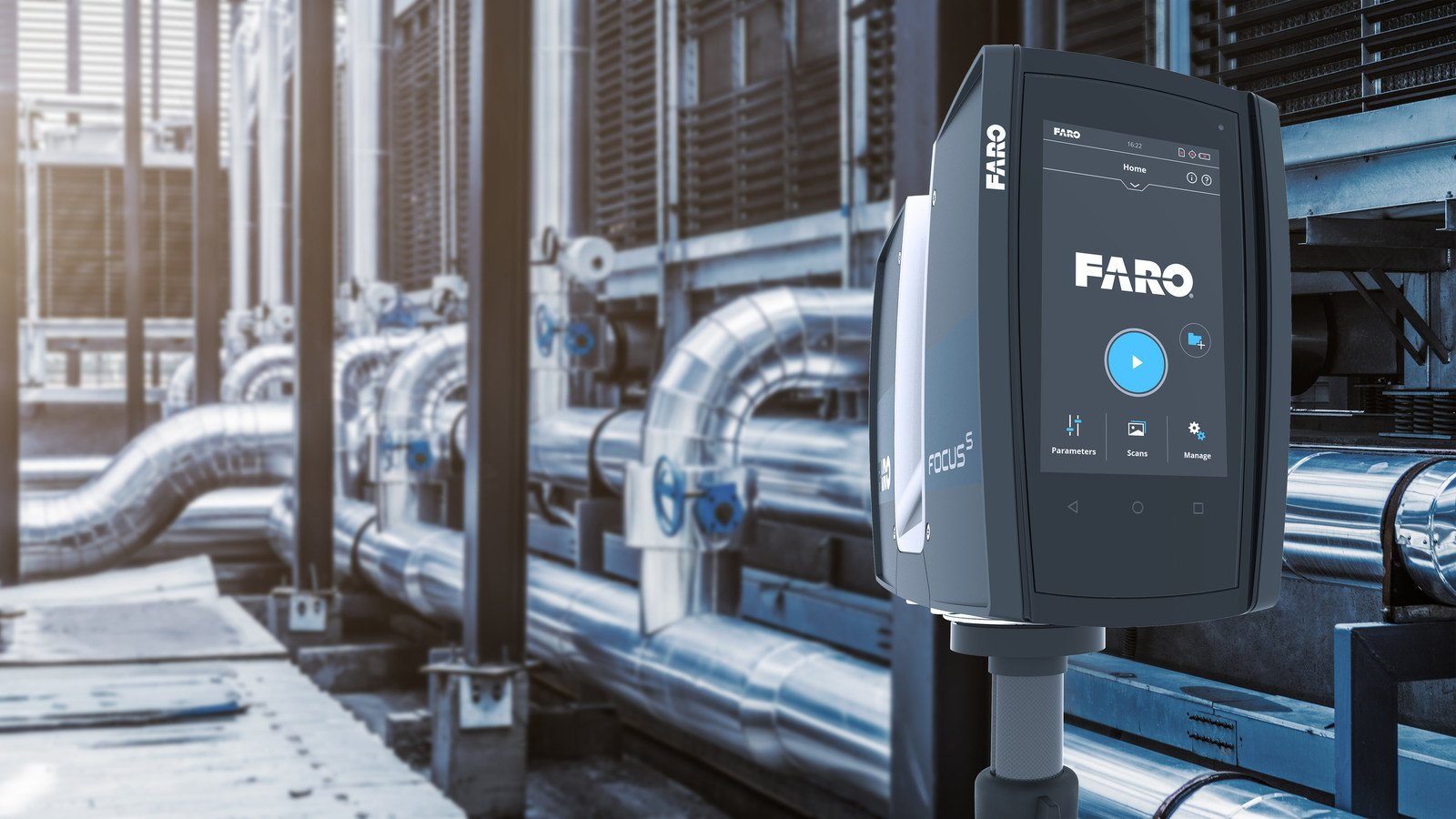 Industrial plants require professional-grade laser scanners such as the FARO Focus S 70 for dependable performance.(Image credit: FARO)