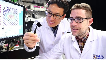 Associate Professor Yang Hyunsoo (left) and Dr Shawn Pollard (right). Credit: Siew Shawn Yohanes