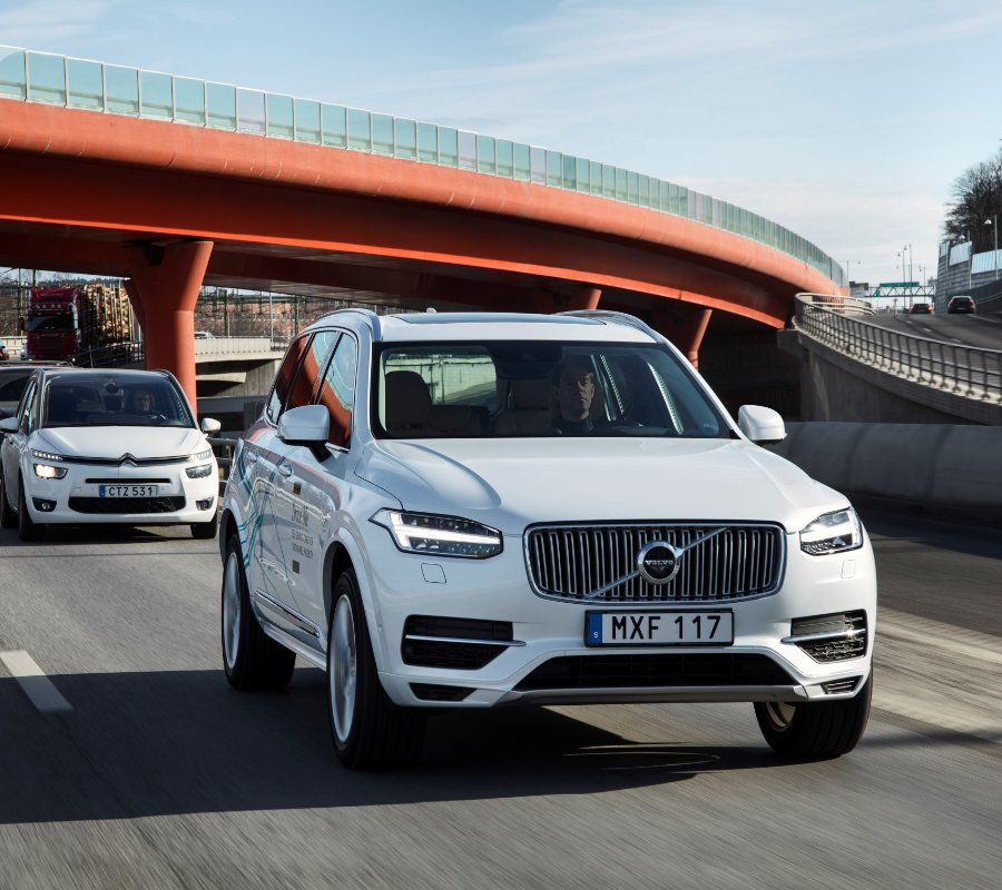 Volvo's self-driving vehicles could hit showrooms as early as five years from now. Image credit: Volvo