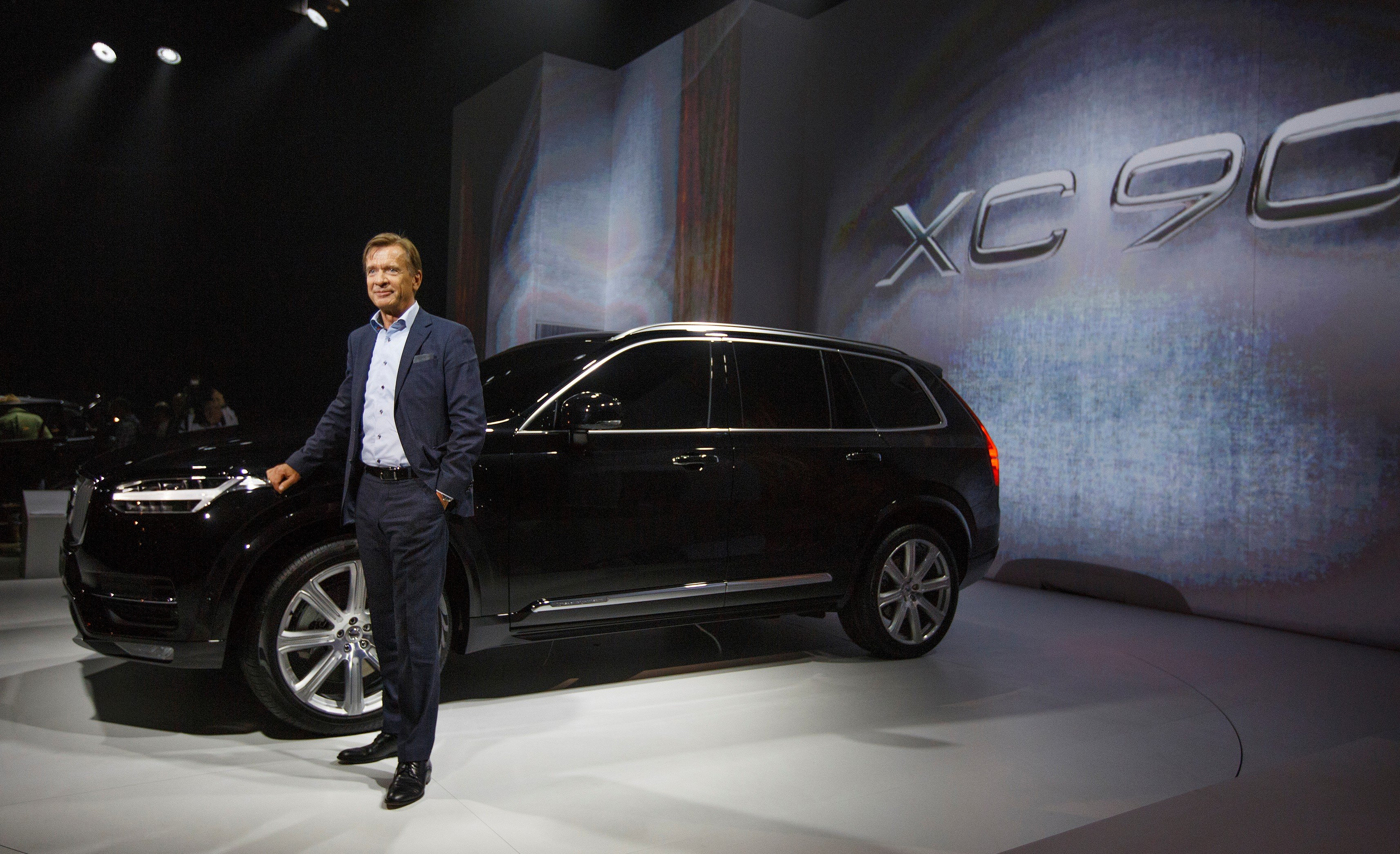 Hakan Samuelsson CEO introduces Volvo ' s XC90. Image Credit: Volvo