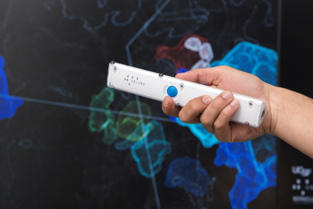 A user-friendly wand makes gesture control easy.