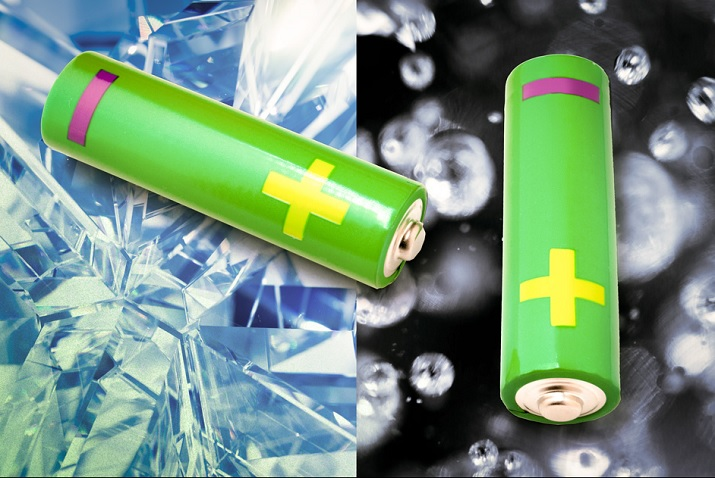 Research as found batteries turn to a disorganized glassy form when discharged or charged. Source: MIT