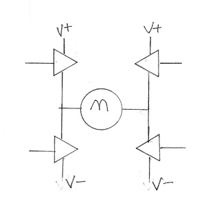 Isolation is needed when MOSFETs drive a motor via an H-bridge configuration drive a motor; unlike their control signals, the drivers have no ground reference. Image source: author