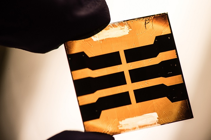 A quantum dot solar cell made of lead sulfide. Image credit: NREL