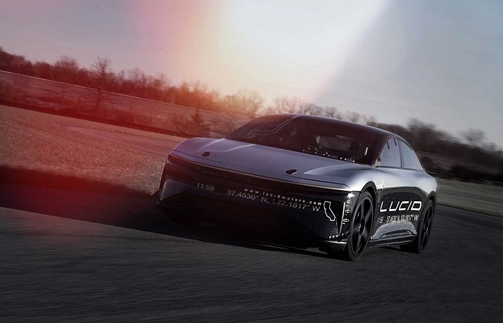 Lucid transformed an Air electric vehicle into a high performance car enabling it to achieve top speeds. Image credit: Lucid Motors