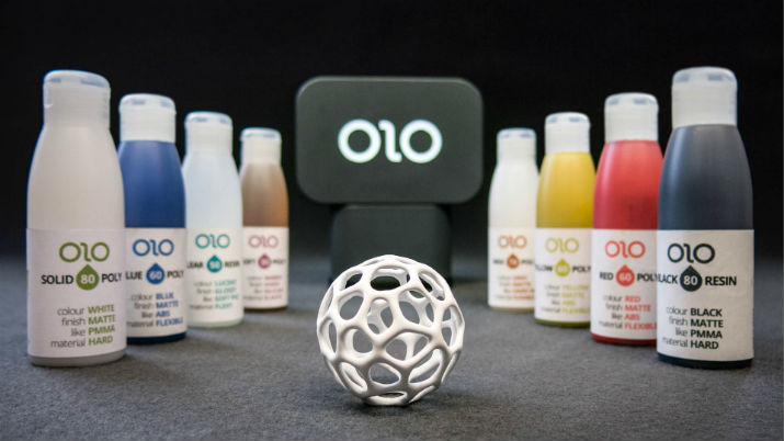 OLO 3D printer with resins. (Image Credit: OLO)