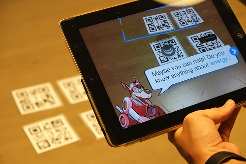 The AR platform teaches STEAM skills on a student's desk in classrooms. Image credit: Purdue University