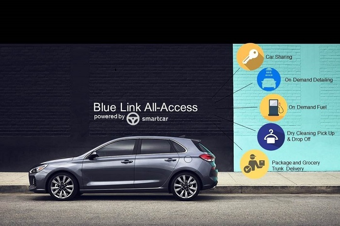 Hyundai, Smartcar offer owners Blue Link to help manage daily tasks.