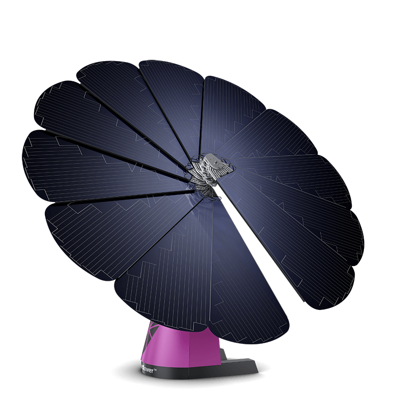 The SmartFlower produces more energy than a traditional PV panel.