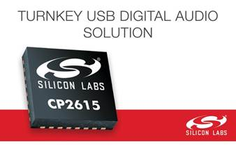 The CP2615 digital audio bridge. Image credit: Silicon Labs