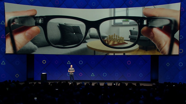 Facebook CEO Mark Zuckerberg discusses the new augmented reality platform at the Facebook Developer's Forum. Image credit: Facebook