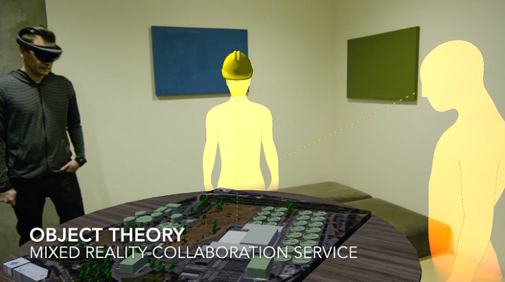 HoloLens mixed-reality application allows 3-D avatars to collaborate in the same room. (Image Credit: Object Theory)
