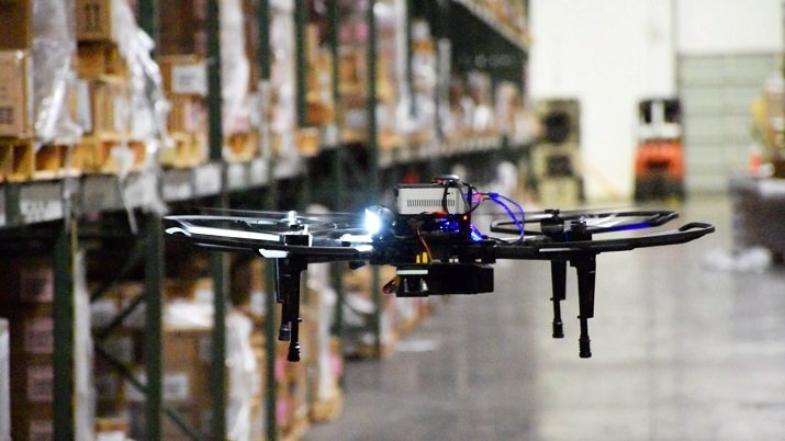 RFID drones are capable of garnering accurate inventory assessments in the span of one day, something that would take humans three months or more to do. Source: PINC Solutions
