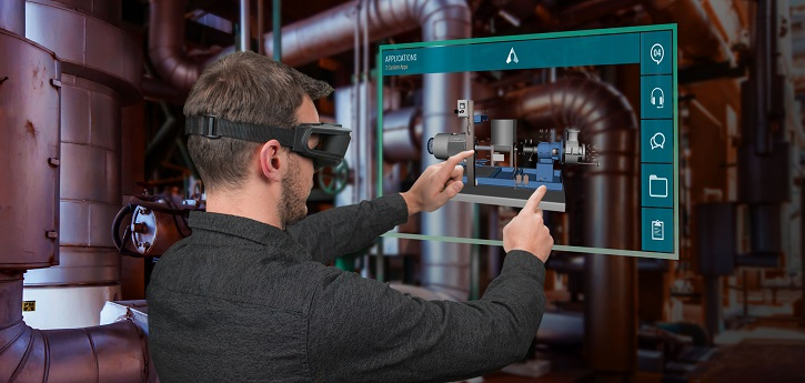Developers of augmented reality smartglasses look to ungloved technology to enable natural and efficient interaction with the digital data rendered by the head-born devices. (Image courtesy of Atheer.)
