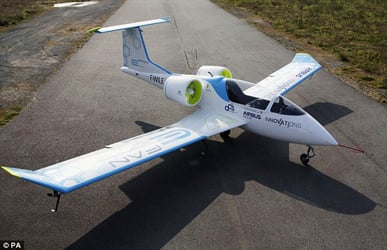 The Airbus E-fan electric plane