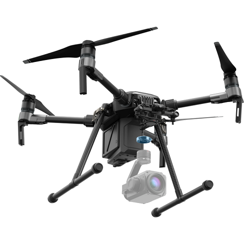 A DJI drone equipped with the Zenmuse XT2 camera. Source: DJI