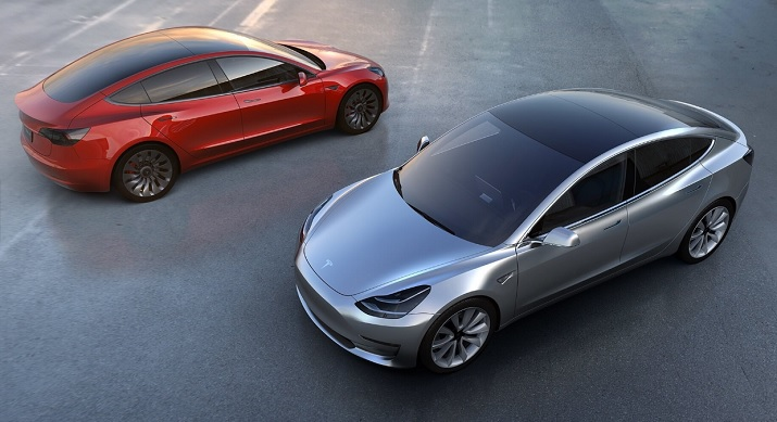 Tesla will include full autonomous driving hardware in its Model 3 electric vehicle when it is available in mid-2018. Source: Tesla