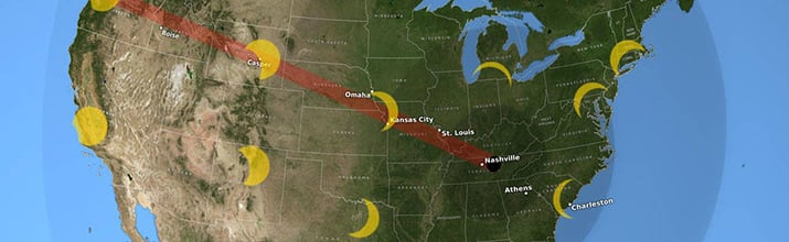 Path of the August 2017 total solar eclipse across the U.S. Source: NASA/Goddard Space Flight Center Scientific Visualization Studio