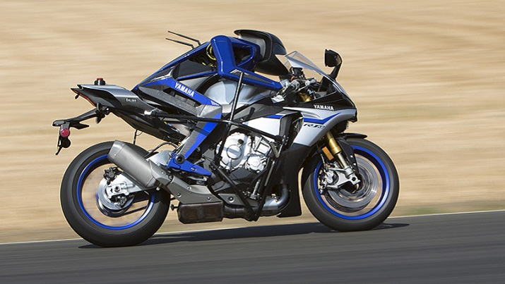 The Motobot Ver.2 is a motorcycle-riding robot that recently surpassed the 200 km/h mark. Source: Yamaha Motor Co.