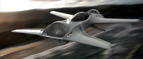 An artist's rendition of the DR-7. Source: DeLorean Aerospace