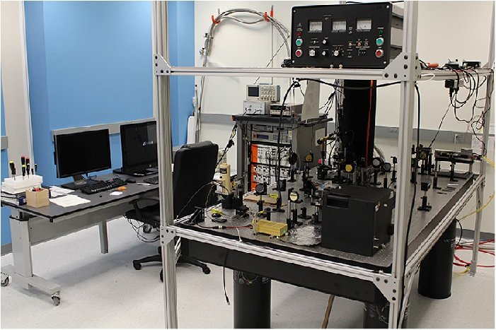 The new instrument, developed at Brookhaven and in use at Yale, combines atomic force microscopy (AFM) and scanning near-field optical microscopy to provide unprecedented insight into these complex nanomaterials. Image credit: Adrian Gozar