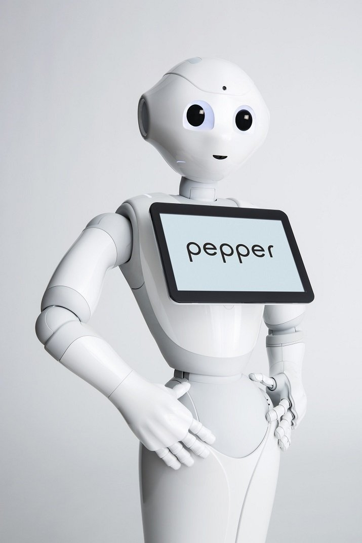 The Pepper robot is used by retailers to push brand and loyalty programs. Image credit: SoftBank Robotics