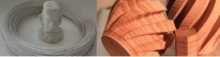 Fig.4: LayBrick and LayWoo-D filaments allow makers to print simulated stone, brick, and wood that can be worked with ordinary hand tools. (Image Credit: 3D-ers.org)