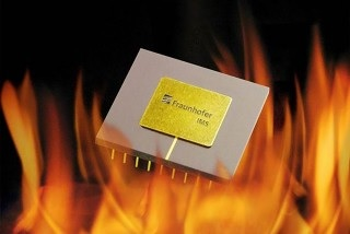 The capacitor withstands temperatures of up to 300 degrees Celsius. Credit: Fraunhofer IMS