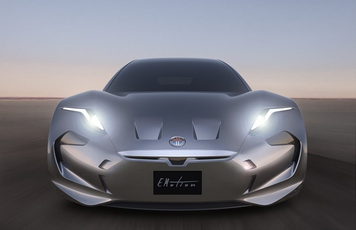 The first look at Fisker's EMotion electric vehicle that the company claims will have a range of 400 miles and a top speed of 161 mph. Source: Fisker