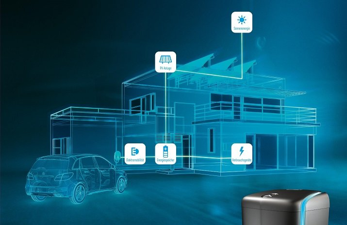 Stationary energy-storage systems can help power a home during an outage, store non-peak energy for use during peak costly energy times, or even power a hybrid or electric vehicle. Source: Daimler AG