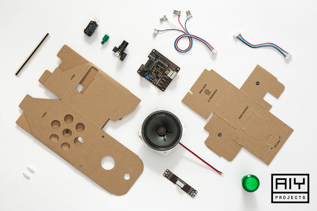 Everything that comes in the Google DIY voice kit. Image credit: Google